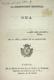 La constitucion española : oda