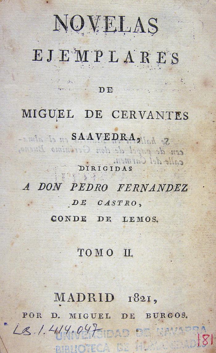Cervantes, las Novelas ejemplares y la narrativa de su tiempo