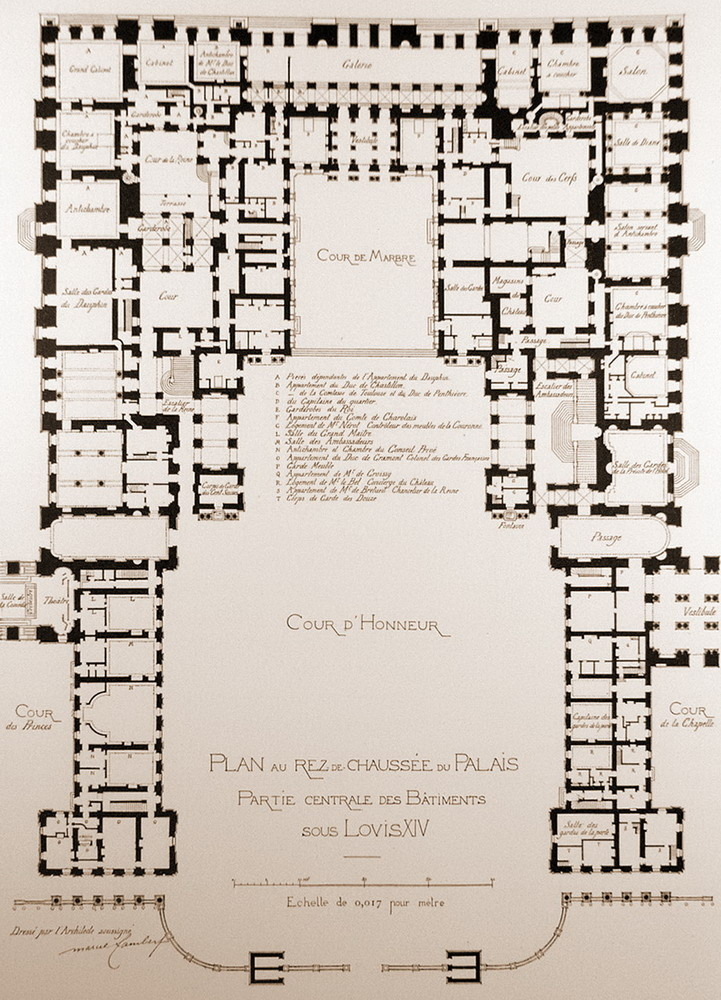 A Map Of The Centre Piece Of The Palace Of Versailles. Ground Floor. |  Palatial Blueprints | Pinterest | Versailles And Palace