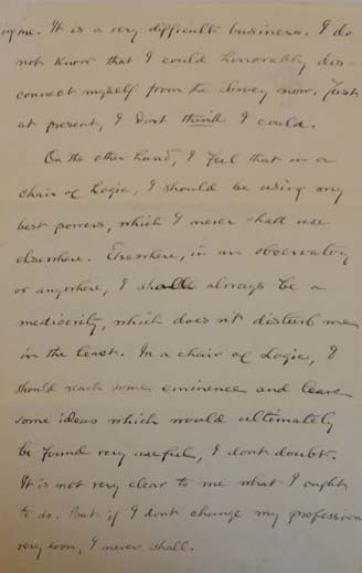 Letter from Charles S Peirce to William